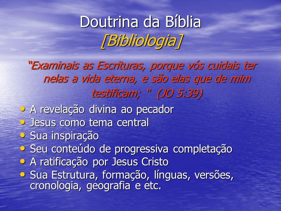 Doutrina da Bíblia [Bibliologia]